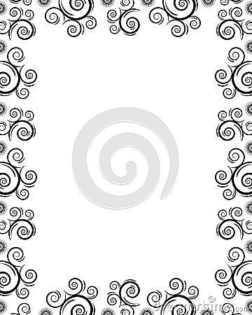 Frame with twirls