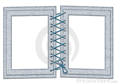 Frame for two photos with laces