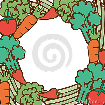 Frame of vegetable on empty space for your text
