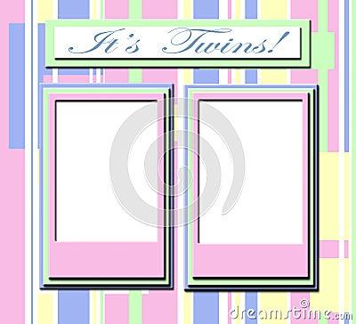 Frame voor tweelingbabys