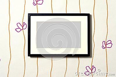 Frame on wallpaper 01