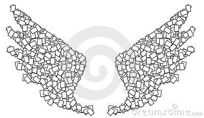 Frame White Wing Royalty Free Stock Photo - Image: 21569985