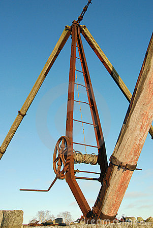 Frame And Winch of Boat Hoist