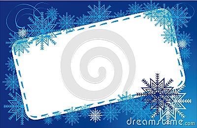 Frame winter snowflakes