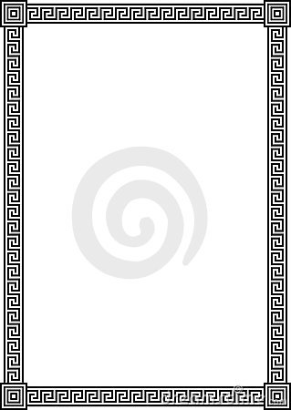 Free Frame With Ancient Greek Meander Pattern Royalty Free Stock Photo - 21240325
