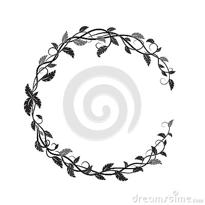 Free Frame With Black And Gray Tropical Leaves And Lianas Royalty Free Stock Photography - 130265297
