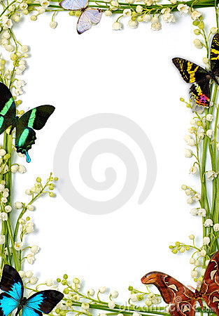Free Frame With Butterflies Royalty Free Stock Photos - 13517198