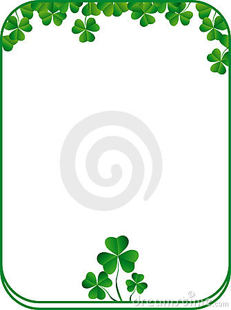 Free Frame With Green Clover Royalty Free Stock Photo - 8059125