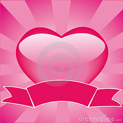 Free Frame With Heart And Ribbon Royalty Free Stock Photo - 7695805
