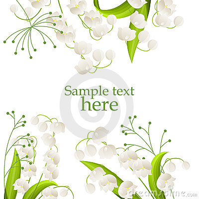 Free Frame With Lilies Of The Valley Royalty Free Stock Image - 18760346
