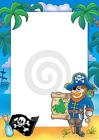 Free Frame With Pirate 2 Stock Photo - 8721550