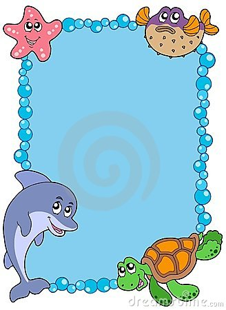 Free Frame With Sea Animals 1 Stock Image - 10747681