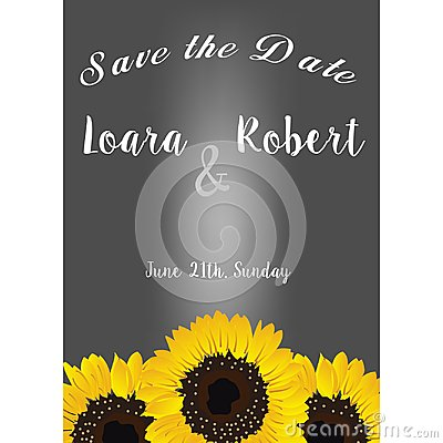 Free Frame With Sunflowers. Collection Decorative Floral Design Elements. Save The Date, Wedding Invitations, Baby Shower Or Birthday C Royalty Free Stock Photos - 105700758