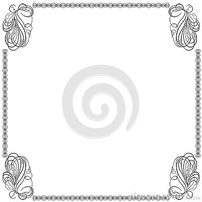 Free Frame With Swirl Interlaced Lines Royalty Free Stock Photos - 109880658
