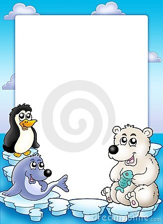 Free Frame With Winter Animals Stock Image - 11572341