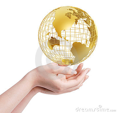 Free Frame World In Hands Stock Photography - 5359602