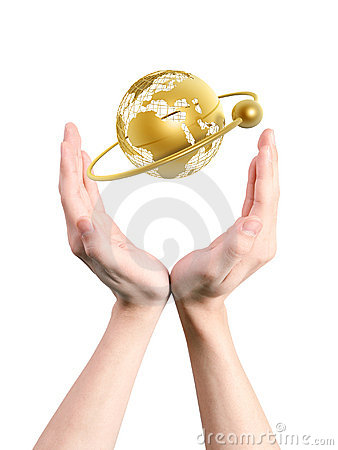 Free Frame World In Hands Stock Images - 5359614