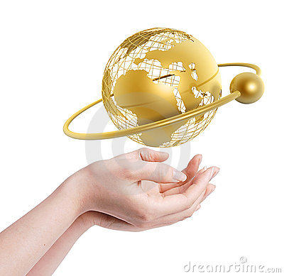 Free Frame World In Hands Royalty Free Stock Photography - 5359617