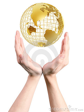 Free Frame World In Hands Royalty Free Stock Image - 5359626