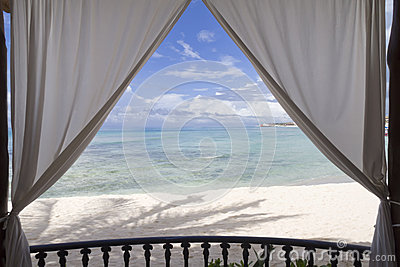 Framed Beach View