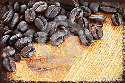 Framed coffee beans