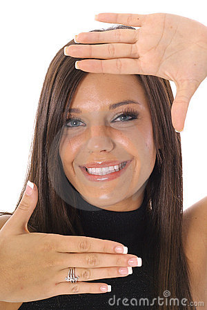 Framed face headshot