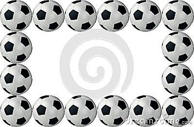 Framed soccer balls
