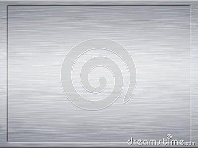 Framed steel brushed metal