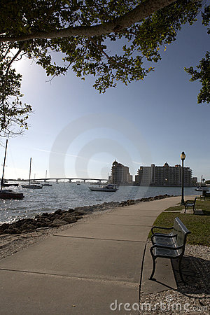 Free Framed View Towards Sarasota Bay Stock Image - 880991