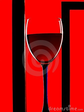 Framed Wine Glass Background