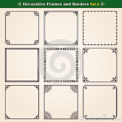 Free Frames And Borders Set 6 Stock Photography - 50410872