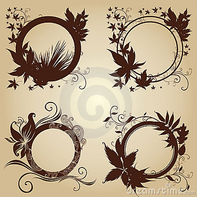 Frames with Autumn Leafs. Thanksgiving