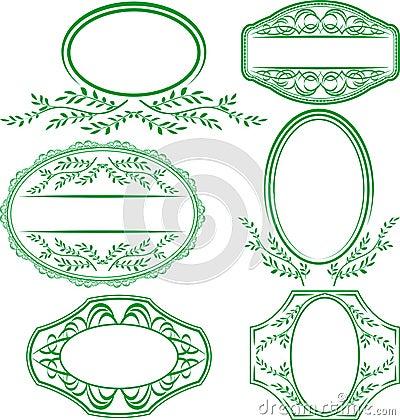 Frames met bladeren en ornamenten