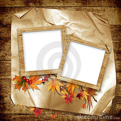 Frames for the photo on vintage background