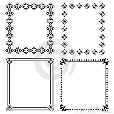 Frames pretos decorativos