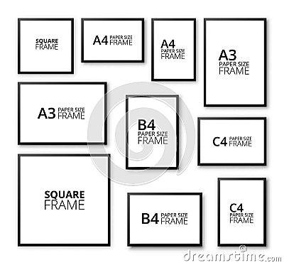 What Does Glasses Frame Size Mean : Frames Set Stock Vector - Image: 54253693