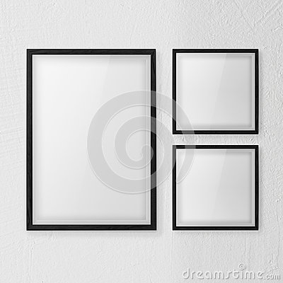 Frames wall white set
