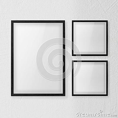 Frames wall white set