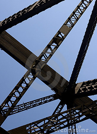 Framework of Darling Harbour Bridge