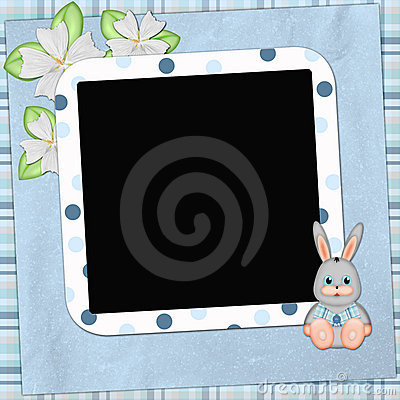 Framework for photo or congratulation with bunny