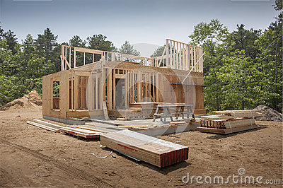Framing a new house