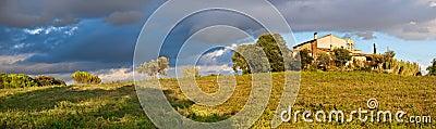 Framland and Catalan Farmhouse Panorama