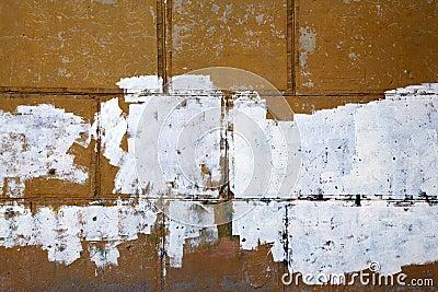 Frammento di vecchia parete della sbucciatura