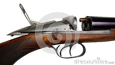 Frammento di vecchia pistola