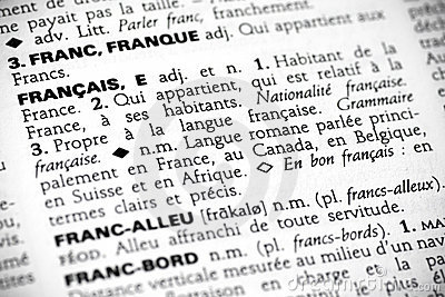 Francais in the dictionary