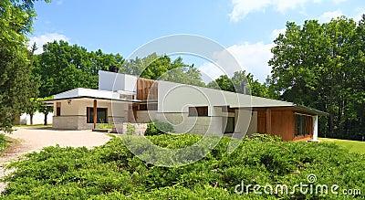 France: Architecture - Alvar Aalto/Maison Louis Carre Editorial Photo