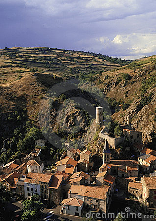France auvergne massif central village of st floret