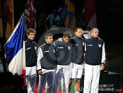 France Davis Cup Team Editorial Photo