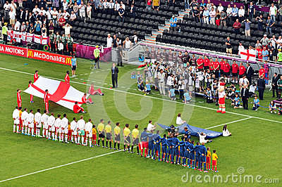 France and the England football teams Editorial Stock Photo