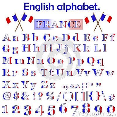 France flag alphabet.